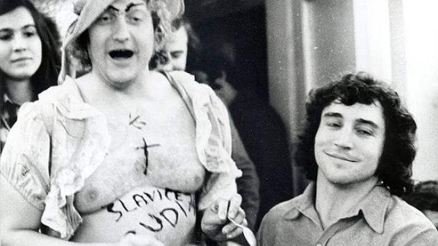 Rudy Kovanda a Franta Kocourek (vpravo).