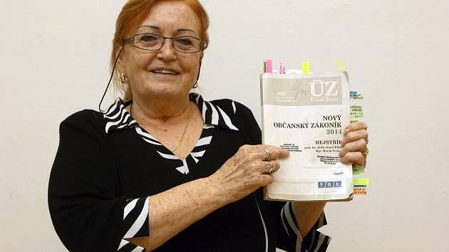 Gerta Mazalová, předsedkyně Sdružení ochrany spotřebitelů.