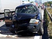 Vážná nehoda na 197. kilometru dálnice D1 v Brně.