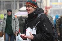 Akce proti HIV v ulicích Brna.