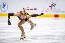 Eliška Březinová se na sklonku loňského roku představila na mistrovství republiky v Ostravě.