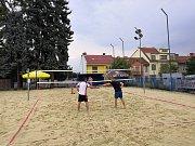 Memoriál Marka Těšíka v beachvolejbale ovládli Radek Štěpán a Bořivoj Hojgr.