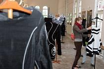 Módní výstava v brněnském Středisku volného času Lužánky.