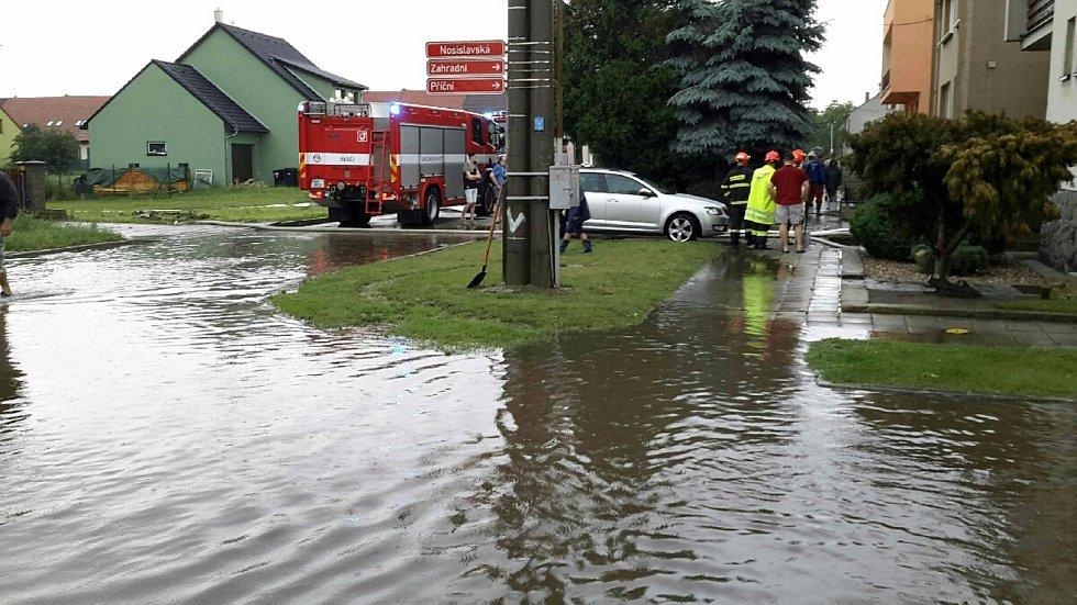 Déšť zasáhl i jižní Moravu.