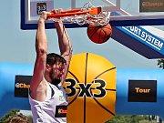 Zápasy basketbalové hry 3x3. Ilustrační foto.