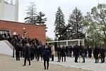 Pohřeb v brněnském krematoriu.