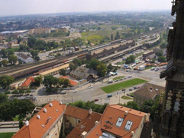 Ilustrační: brněnské nádraží ze vzduchu