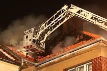 Požár domu v Židenicích.