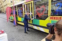Slavnostní křest záchranářské tramvaje v Brně.