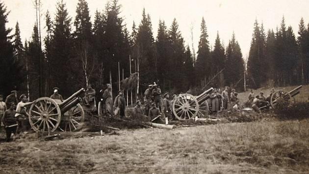 3. baterie v boji pod Kordonem.