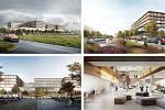 MVSA Architects, JIKA-CZ, KCAP Architects &Planners (Amsterdam – Hradec Králové – Rotterdam): Chirurgické centrum Fakultní Nemocnice Hradec Králové, Česko. Vizualizace.