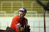 Česká hokejová reprezentace trénuje v brněnské hale Rondo.