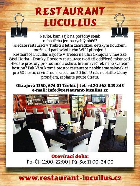 22. Restaurace Lucullus Třebíč