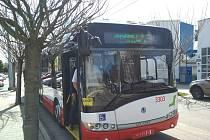 Parciální trolejbus v Brně, ilustrační foto.
