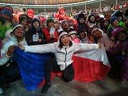 Snowboardistka Eva Samková, bronzová medailistka ze zimních olympijských her v Jižní Koreji, na Olympijském festivalu v Brně.