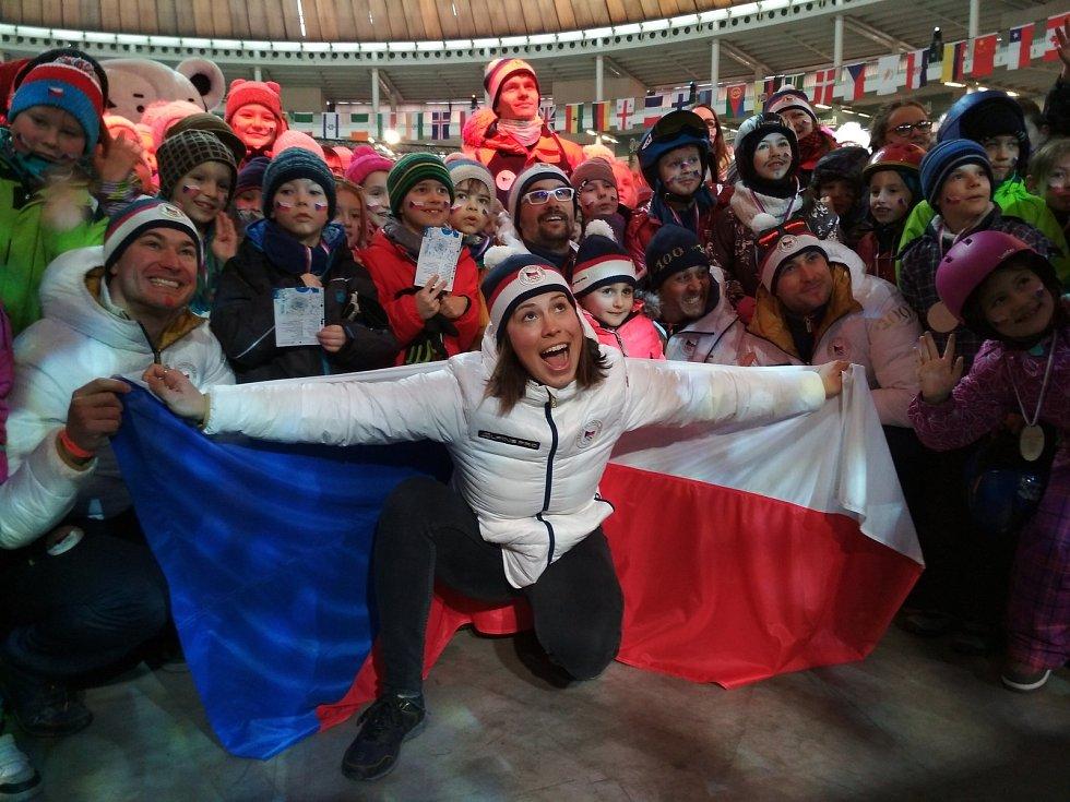 Na Olympijský festival do Brna dorazila bronzová medailistka Eva Samková.