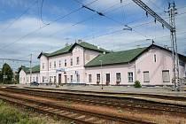 Nádražní budova Sokolnice-Telnice.