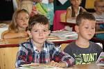 První školní den v Kyjově.