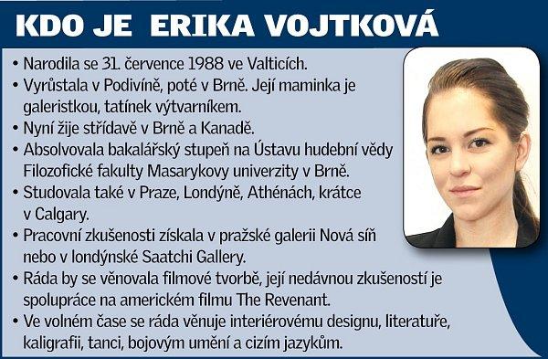 Rodačka zPodivína na Břeclavsku Erika Vojtková.