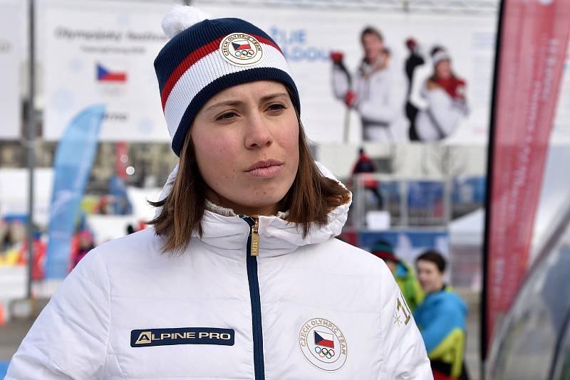 Olympijský festival v areálu brněnského výstaviště - bronzová medailistka Eva Samková.