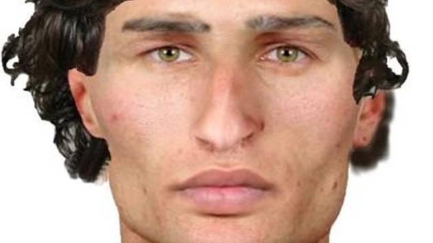 Identikit jednoho z podezřelých lupičů.