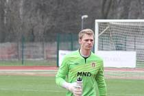 Třetiligový gólman Hodonína Michal Lupač.