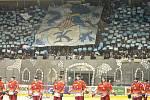 Atmosféra fanoušků Komety při zápase s Olomoucí.