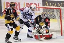 Hokejisté brněnské Komety v duelu sedmého kola doma jasně přehráli Litvínov 7:1.