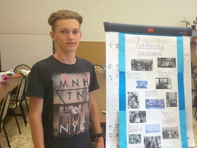 Patnáctiletý žák Ondřej Dygas.