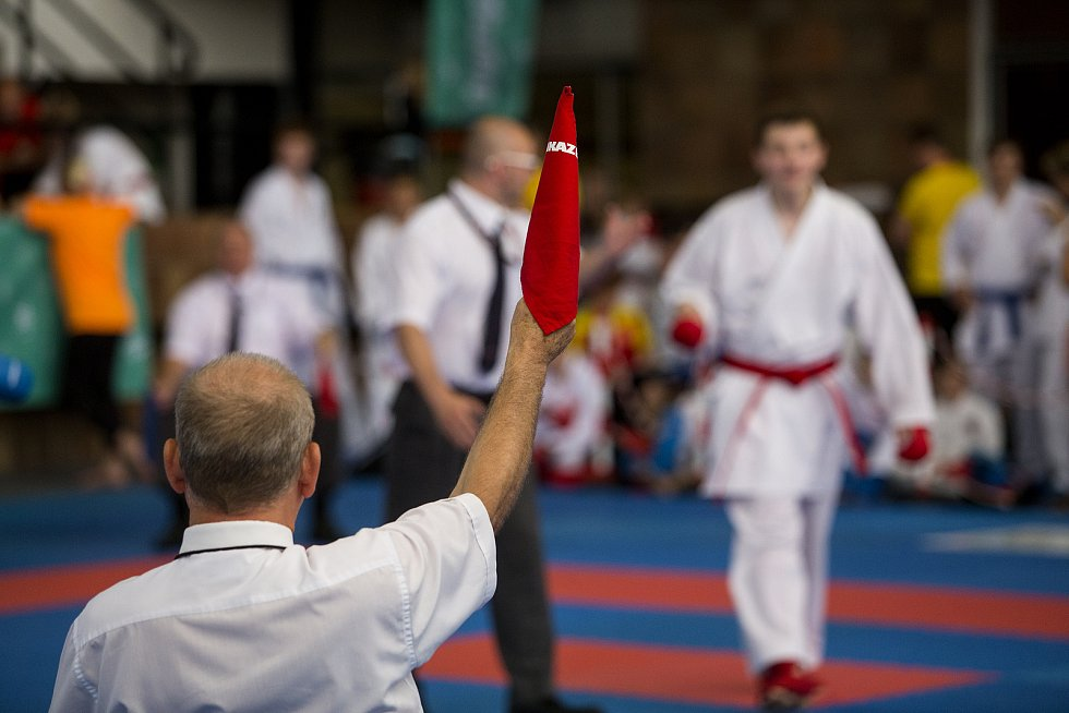Olympiáda dětí a mládeže v hale Tesla - karate.