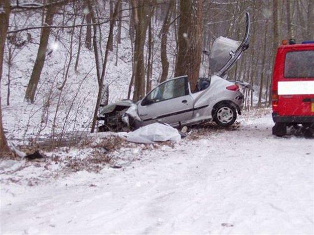 Devatenáctiletý řidič dostal smyk a narazil do stromu. Řidičský průkaz měl krátce a podle všeho jel rychle.