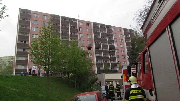 Požár bytu v Glinkově ulici v Brně
