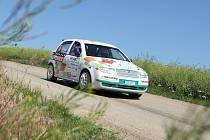 Čtvrtý podnik mezinárodního mistrovství České republiky v automobilových soutěžích Hustopečská rallye.