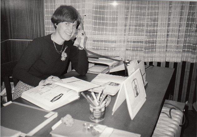 Knihovnice Věra Jelínková.