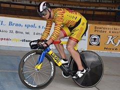 Dráhový cyklista brněnské Dukly Robin Wagner.