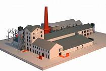 Vizualizace bchodního a společenského centra v Židlochovicích