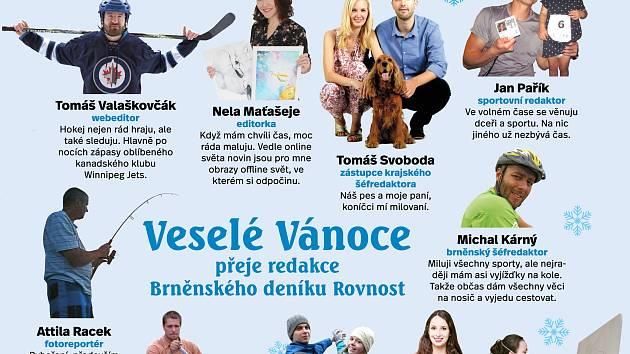 Klidné Vánoce přeje redakce Brněnského deníku Rovnost.