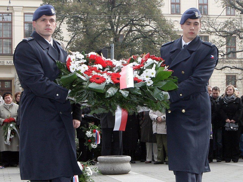 Slavnostní připomenutí výročí vzniku Československa.