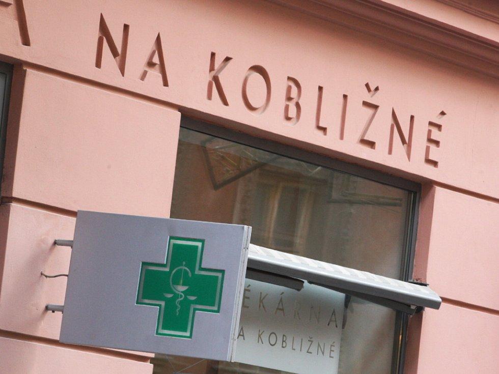 Lékárna v Kobližné ulici v Brně.