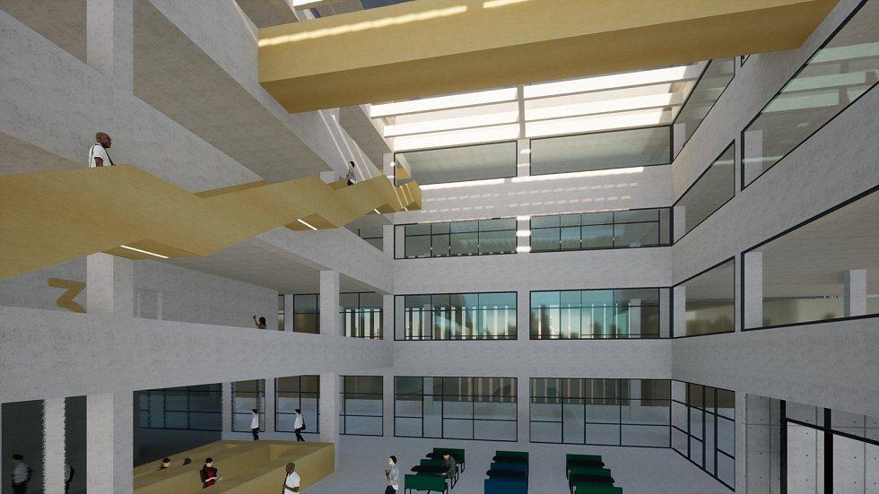 Riviera Research Park, který vznikne přeměnou budovy bývalého tuzexu u brněnského výstaviště.