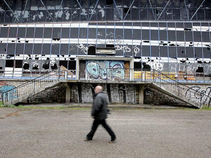 Někdejší zimní stadion za Lužánkami.