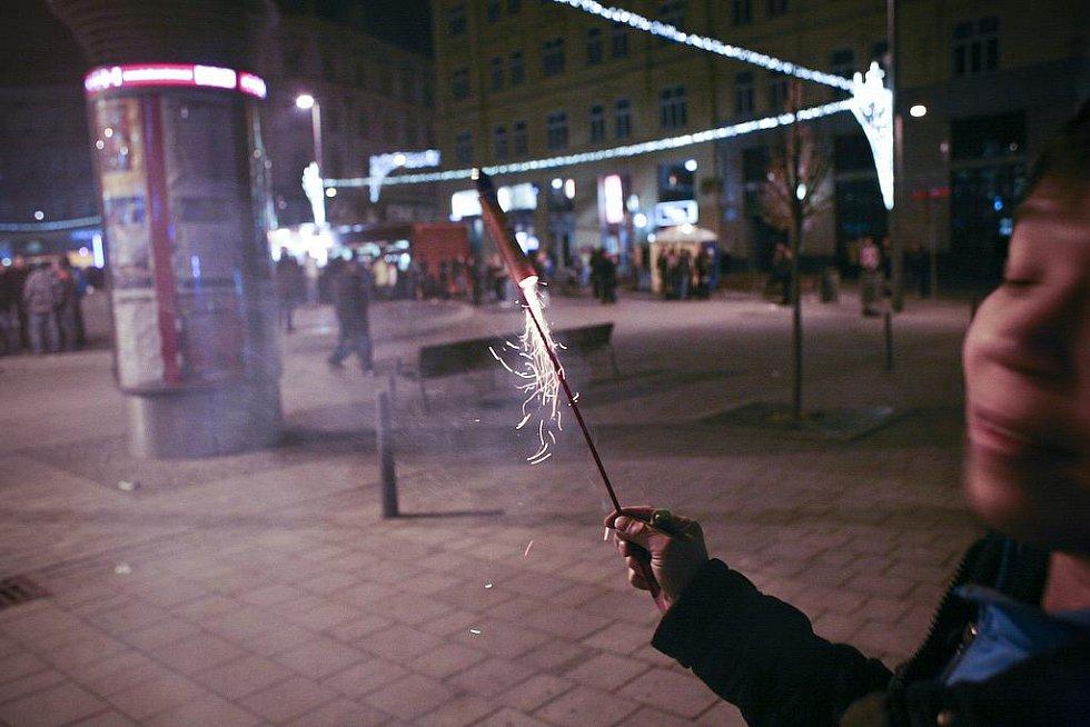 Silvestrovské oslavy v Brně.