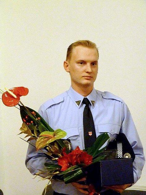 Strážník roku 2010 Vlastislav Remer z Brna.