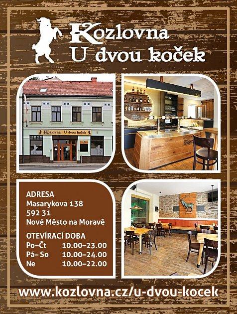 Restaurace Kozlovna udvou koček, Nové Město na Moravě
