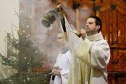 Žehnání tříkrálovým koledníkům na brněnském Petrově