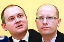 Michal Hašek a Bohuslav Sobotka.