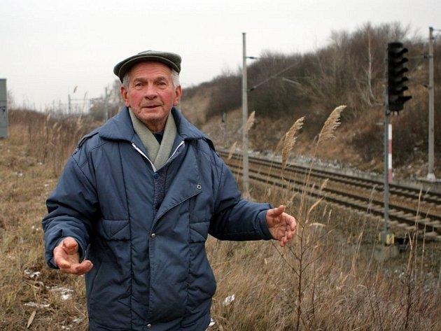 Vítězslav Kostrhoun v místě, kde se tragédie stala.