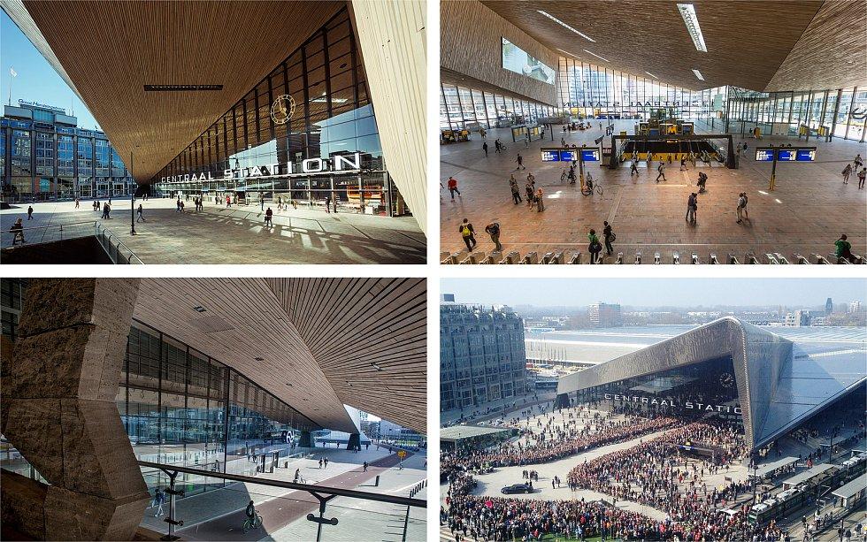 MVSA Architects, JIKA-CZ, KCAP Architects &Planners (Amsterdam – Hradec Králové – Rotterdam): Rotterdam hlavní nádraží, Nizozemsko. Vizualizace.