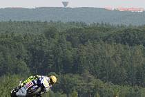 Valentino Rossi při nedělním závodě Grand Prix.