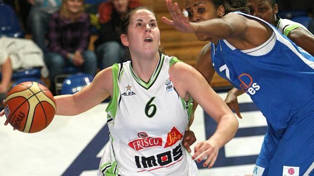 Basketbalistka Žabin Romana Hejdová.